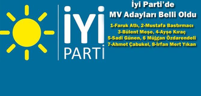 İyi Parti'de MV Adayları Belli Oldu